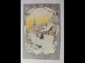 Neujahr, Kirche, Winterdorf, 1902 ♥ (44069)