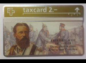 Telefonkarte ungebraucht taxcard 2.- Deutscher Kaiser Friedrich III. ♥ (65006)