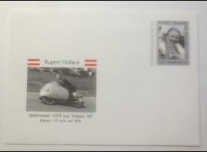 Motorrad Rupert Hollaus Weltmeister 1954 aus Traisen N.Österreich ♥ (638)