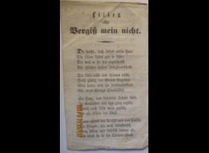 Religion Salzburg 1858 Lilien und Vergiß mein nicht , Gebet Lied (7889)