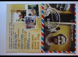 Handel Fair Rules Afrika , Protestkarte 2001 an Wirtschaftsminister BRD (47801)