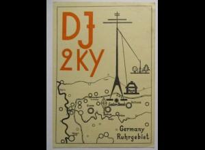 Funk Funkerkarte 1957 aus Germany Ruhrgebiet nach Eupen (50710)