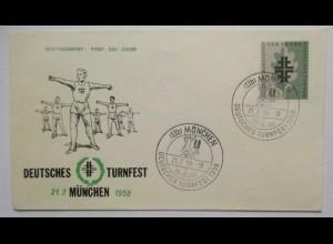 Deutsches Turnfest München 1958 Sonderbrief (7288)