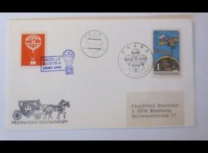 Ballonpost,Tschechoslowakei , Gazelle Austria, Österreich-Prag 1968 ♥ (42709)