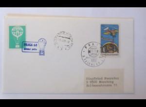Ballonpost,Tschechoslowakei , Slapanice-Prag 1968 ♥ (63385)