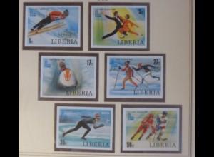 Liberia 1168-1173 Olympische Spiele Lake Placid xx ungezähnt 1980 ♥ (72529)