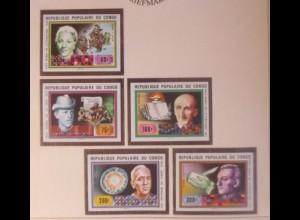 Kongo 620-624 Nobelpreisträger Literatur Medizin xx ungezähnt 1978 ♥ (72534)