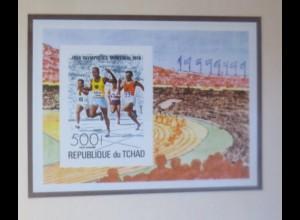 Tchad Block Olympische Spiele Läufer xx ungezähnt 1976 ♥ (72535)