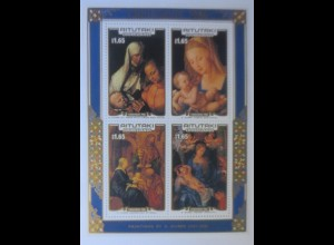 Aitutaki A.Dürer Weihnachten Madonna m. Kind 1986 Block 66 xx ♥ (49228)