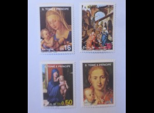 São Tomé Príncipe 984-987 Weihnachten Jungfrau A.Dürer 1986 xx ♥ (7733)