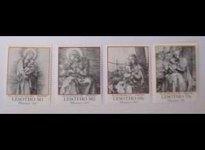 Lesotho 930, 931, 928, 929, Weihnachten A. Dürer 1991 xx ♥ (63851)