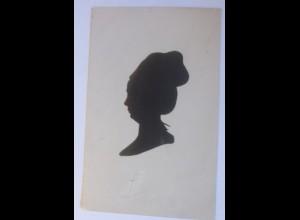 Künstlerkarte, Scherenschnitt, Lotte Buff 1908 ♥ (49912)