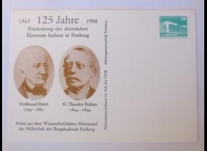 DDR Privatganzsache Ferdinand Reich H. Theodor Richter Wissenschaft 1988♥(72620)