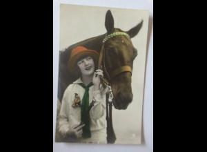 Neujahr, Frauen, Mode, Pferd, 1916 ♥ (64143)