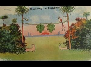"""""""Adam&Eva, Sonne"""" 1910, Waschtag im Paradies ♥"""