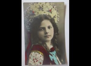 Neujahr, Kinder, Mode, Trachten, 1907 ♥ (4152)