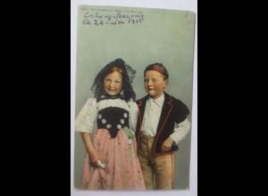 Frauen, Schweizer Trachten Berneroberland Bueb und Meitschi 1910 ♥ (67082)