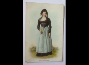 Frauen, Schweizer Trachten Bern Simmenthal 1951 ♥ (66825)