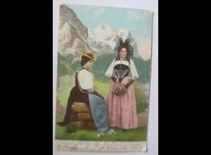 Frauen, Bern, Berner Trachten 1904, Schweiz ♥ (69422)