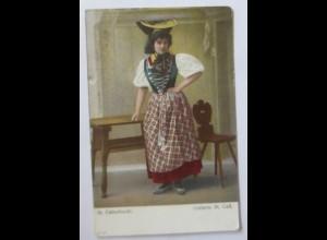 Frauen, Trachten, St.Gallen, St. Gallertracht, 1910 ♥ (72237)