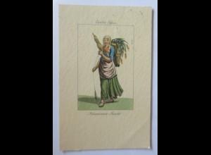 Frauen, Karton Tessin Bäuerin Tracht, Italienische Schweiz 1936 ♥ (71110)