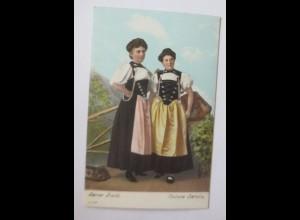 Frauen, Trachten, Bern, Costume Bernois 1907 ♥ (45566)