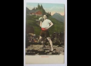 Frauen,Trachten, Bern Steinstoßen, Sport, Sportart, Strongest Man,1908 ♥ (24678)
