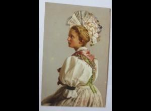 Frauen, Trachten, Ratsherrenfrau aus der Schweiz, 1909 ♥ (47252)