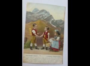 Kinder, Trachten, Appenzeller Tracht, 1907 ♥ (7568)