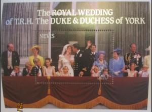 Nevis Königliche Hochzeit Andrew und Sarah Ferguson xx (49008)