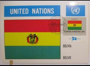 UNO Flaggen Maximumkarte 1981 Bolivien (37342)