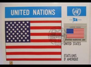UNO Flaggen Maximumkarte 1981 USA United States (49601)