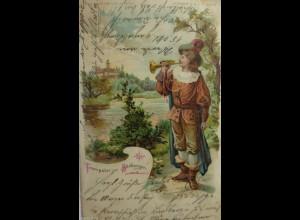 """""""Männer, Trompete"""" 1901, Serie Meteor, D.R.G.M. 88690♥ (406)"""