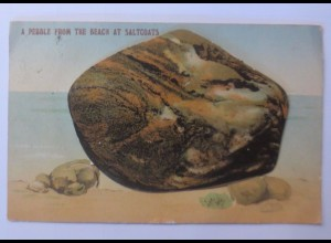 """""""Leporello, Muschel, Beach at Saltcoats, Schottland"""" 1908 ♥"""