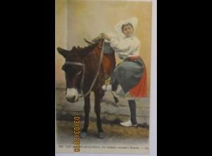 Frau mit Esel, Les Sables D´Olonneca. 1920 (57580)