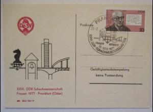 Schach 26. DDR Meisterschaft der Frauen Frankfurt 1977 (44772)