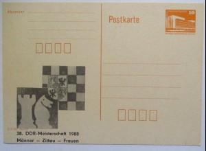 Schach 38. DDR Meisterschaft Zittau 1988 (62255)