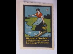 Reklamemarken, Kloster-Nudeln Sanssouci-Maccaroni 1910 ♥ (60162)