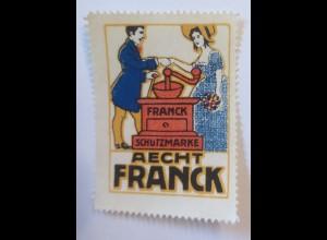 Reklamemarken, Aecht Franck Kaffee 1910 ♥ (14450)