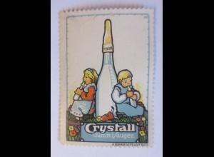 Reklamemarken, Crystall Gummi-Sauger 1910 ♥ (11184)
