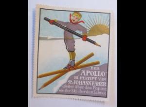 Reklamemarken, Apollo Bleistift von Johann Faber 1910 ♥ (17708)
