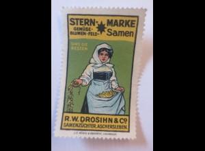 Reklamemarken, Stern Marke R.W. Drosihn & Co Samen Aschersleben 1910 ♥ (39104)