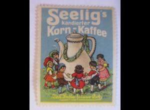 Reklamemarken, Seelig´s kandierter Korn-Kaffee 1910 ♥ (39103)