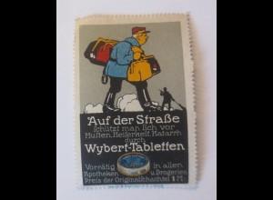 Reklamemarken, Auf der Straße Wybert-Tabletten für Erkältung 1910 ♥ (40995)