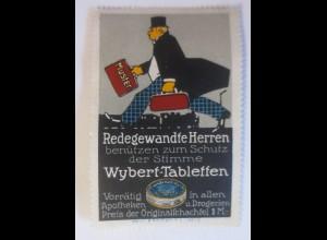 Reklamemarken, Auf der Straße Wybert-Tabletten für Erkältung 1910 ♥ (36193)