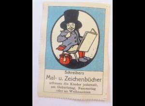 Reklamemarken, Schreibers Mal und Zeichenbücher 1910 ♥ (50460)