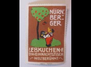 Reklamemarken, Nürnberger Lebkuchen Weihnachten 1910 ♥ (53883)