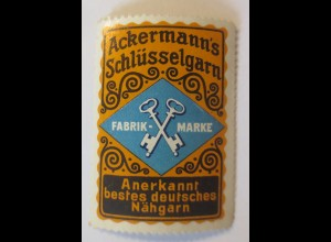 Reklamemarken, Ackermann´s Schlüsselgarn Nähgarn 1910 ♥ (17275)