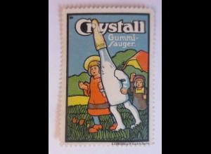 Reklamemarken, Crystall Gummi Sauger A. Gerhard & Co Berlin 1910 ♥ (58522)