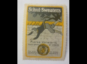 Reklamemarken Schul Sweaters Marke Vorwärts U. Levi Stuttgart 1910 ♥ (61941)
